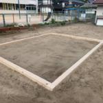 仮設砂場を設置
